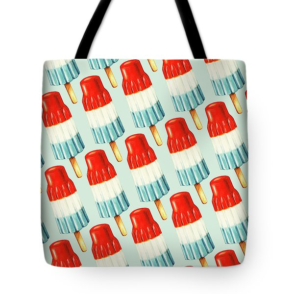 Bomb Pop Pattern Tote Bag by Kelly Gilleran