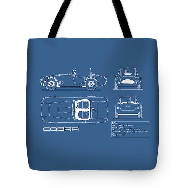 Ac Cobra Blueprint Tote Bag by Mark Rogan