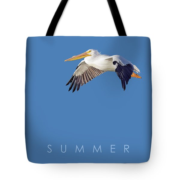 Tote Bag featuring the drawing Blue Series 003 Summer by Rob Snow