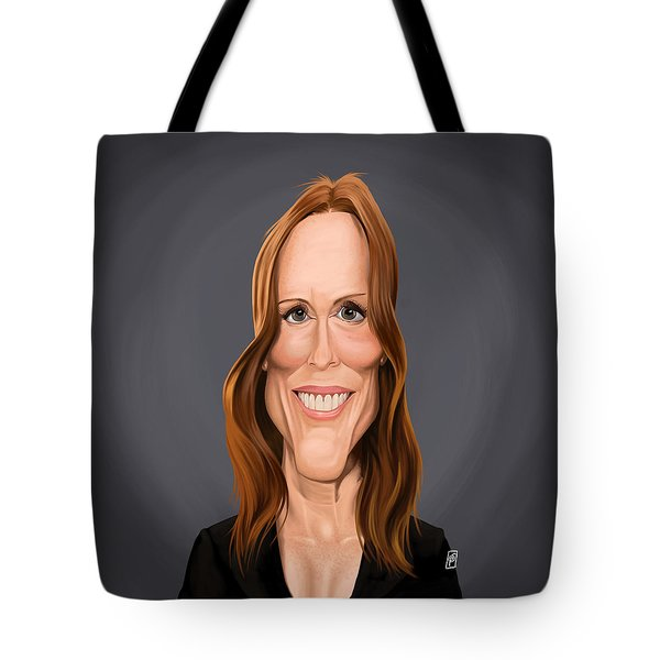Tote Bag featuring the drawing Celebrity Sunday - Julianne Moore by Rob Snow