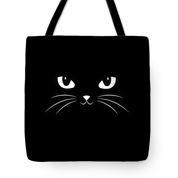 Cute Black Cat Tote Bag