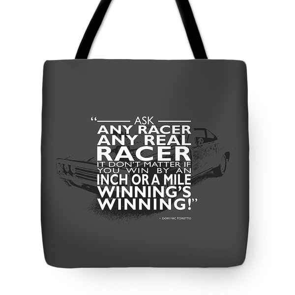 Ask Any Racer Tote Bag