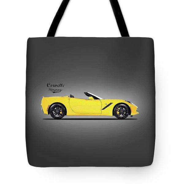 Corvette In Yellow Tote Bag