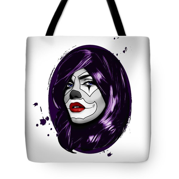Clown Girl Tote Bag