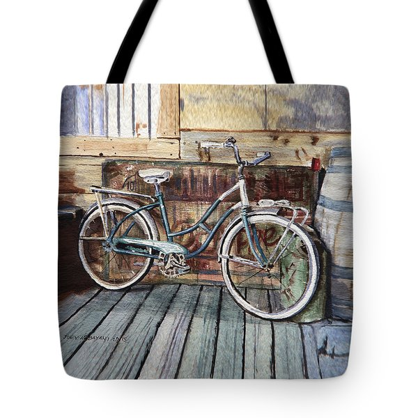 Roadmaster Bicycle Tote Bag by Joey Agbayani