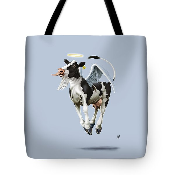 Tote Bag featuring the drawing Holy Cow Colour by Rob Snow