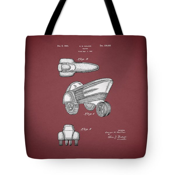 Tractor Patent 1944 Tote Bag