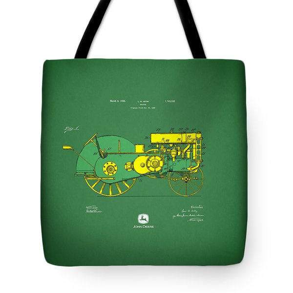 John Deere Tractor Patent Tote Bag