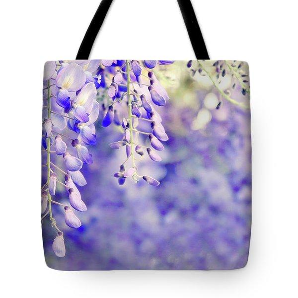 Wisteria Watercolor Tote Bag