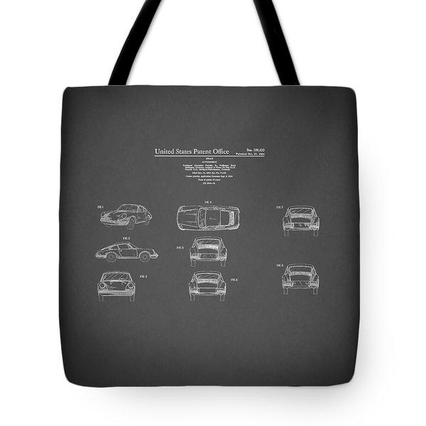 Porsche 911 Patent 1964 Tote Bag