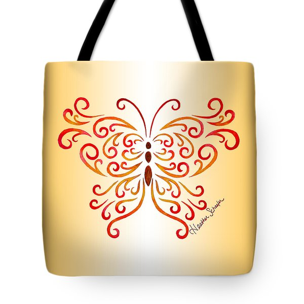 Tribal Butterfly Tote Bag