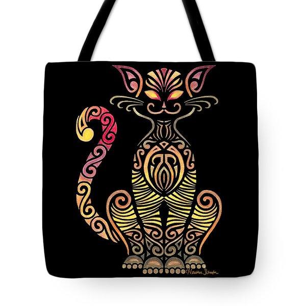 Tribal Cat Tote Bag