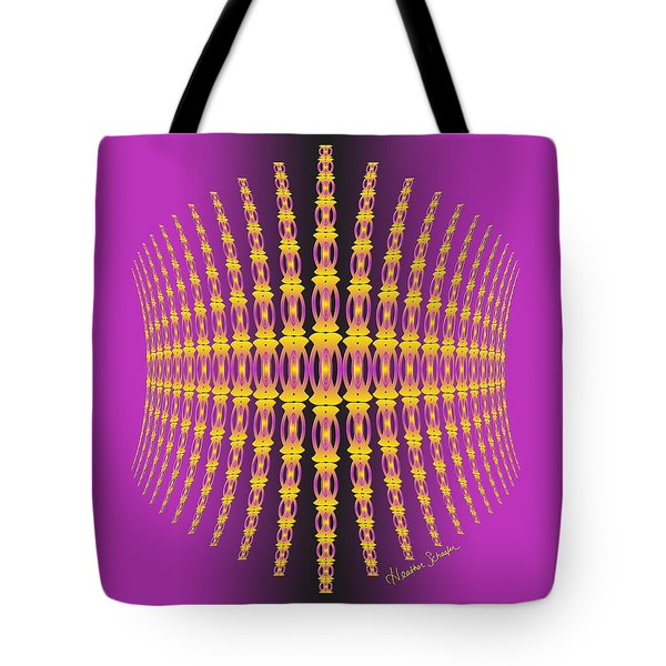 Purple And Gold Crown Tote Bag