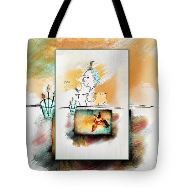 Mrs. Darwin's Theory Of Evolution Self Portrait  Tote Bag