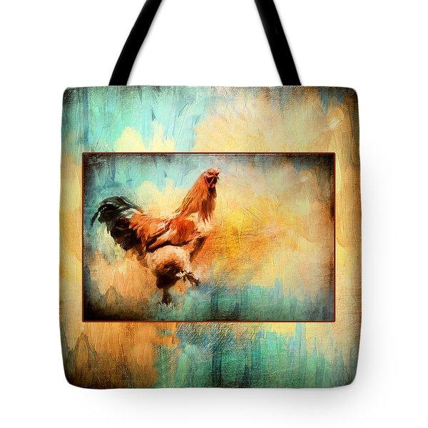 Buff Brahma Mrs. Darwin's Rooster  Tote Bag