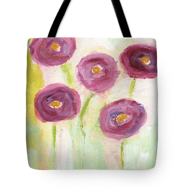 Joyful Poppies- Abstract Floral Art Tote Bag