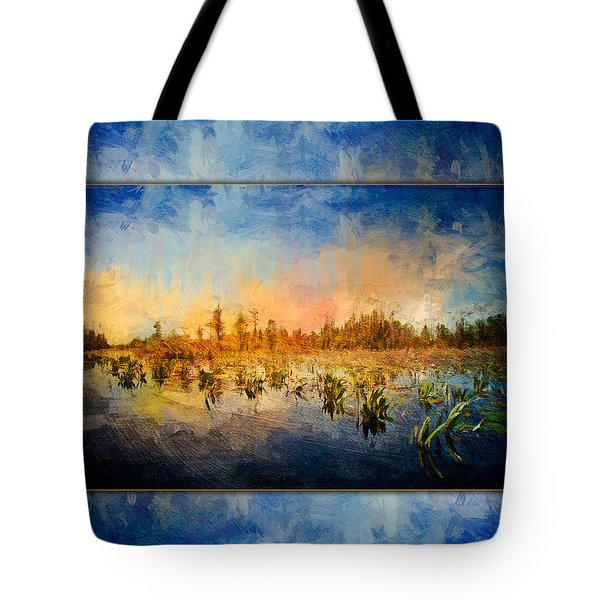 Sunset Over The Okefenokee Tote Bag