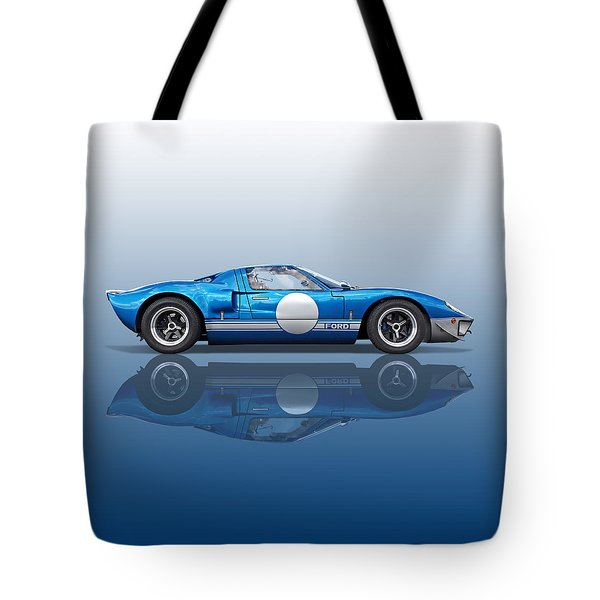 Blue Reflections - Ford Gt40 Tote Bag