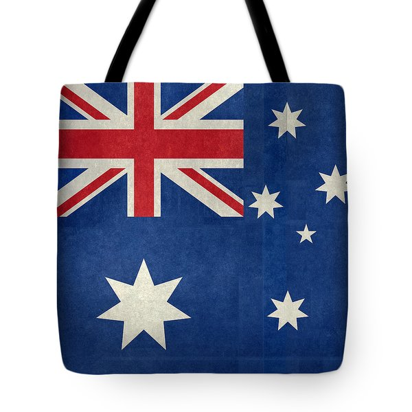 Australian Flag Vintage Retro Style Tote Bag by Bruce Stanfield