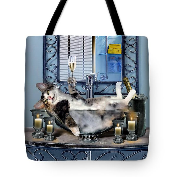 Funny Pet Print With A Tipsy Kitty  Tote Bag
