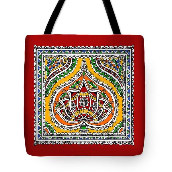 Lotus In Mithila  Tote Bag