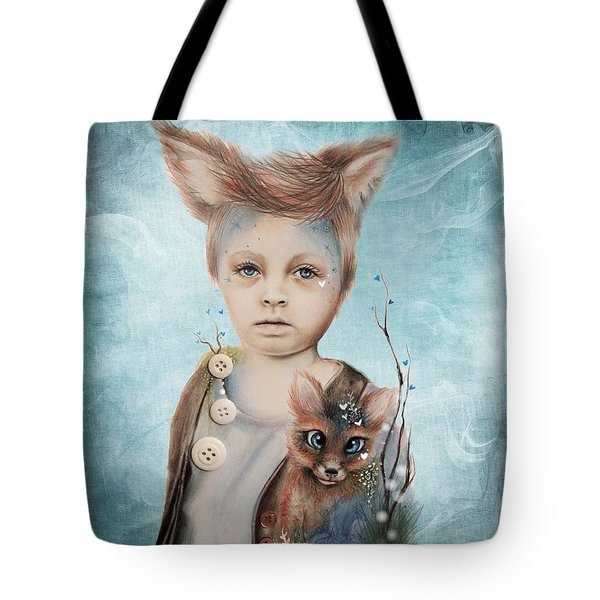 A Boy And His Fox   Tote Bag by Sheena Pike