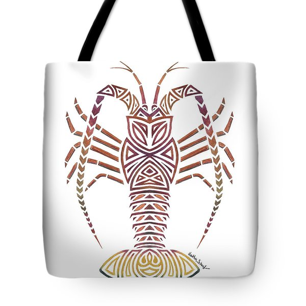 Tribal Caribbean Lobster Tote Bag