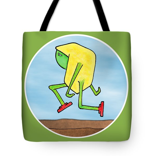 Tote Bag featuring the drawing Skip by Uncle J's Monsters