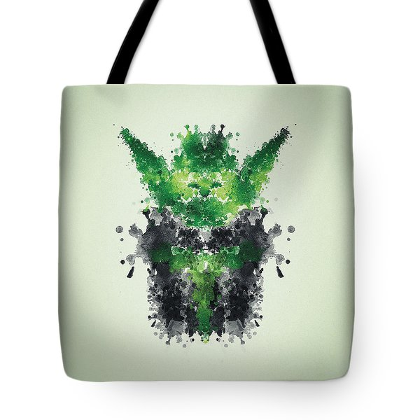 Rorschach Yoda Tote Bag