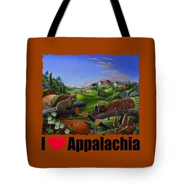 I Love Appalachia - Spring Groundhog Tote Bag