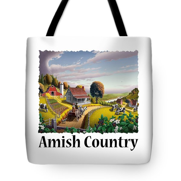 Amish Country - Appalachian Blackberry Patch Country Farm Landscape 2 Tote Bag