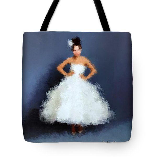 Tote Bag featuring the digital art Becky by Nancy Levan