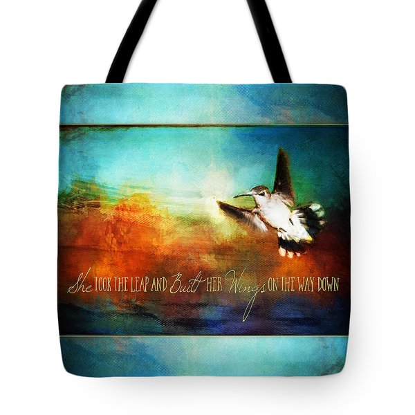 She Built Her Wings Tote Bag