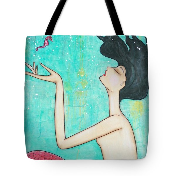 Water Nymph Tote Bag by Natalie Briney