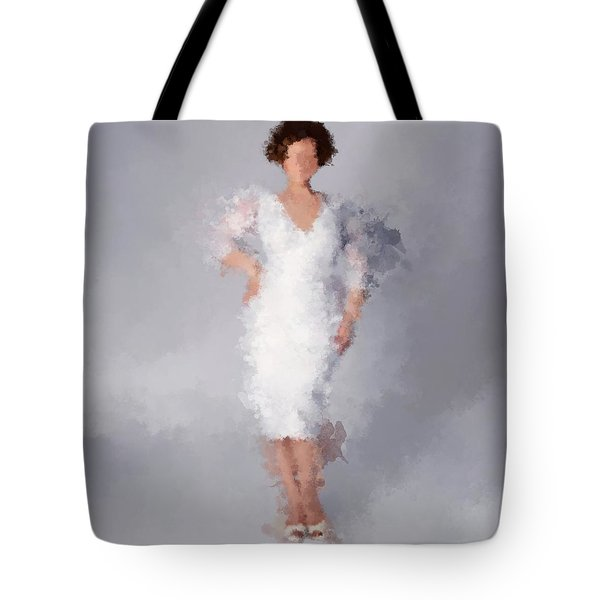 Tote Bag featuring the digital art Tiffany by Nancy Levan