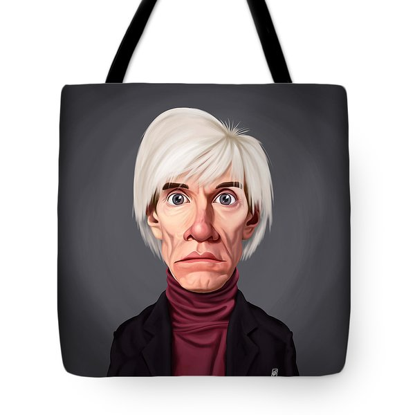 Celebrity Sunday - Andy Warhol Tote Bag