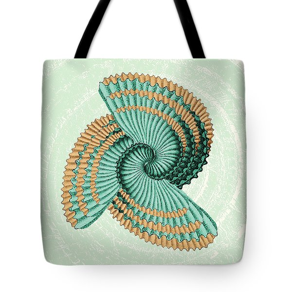 Octopus Shell Abstract Tote Bag