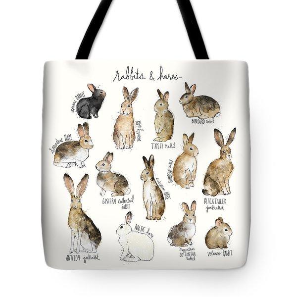 Rabbits And Hares Tote Bag