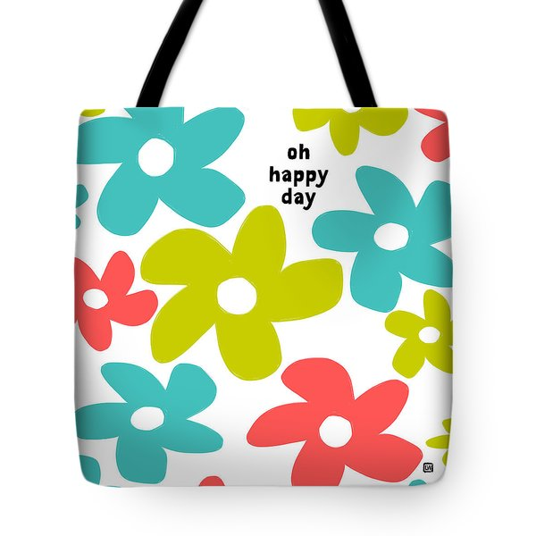 Tote Bag featuring the painting Oh Happy Day by Lisa Weedn