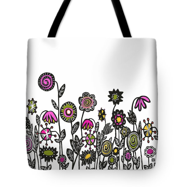 Tote Bag featuring the painting Hippie Garden by Lisa Weedn
