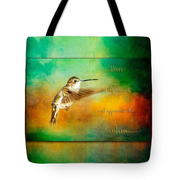 Hummingbird Hover Tote Bag