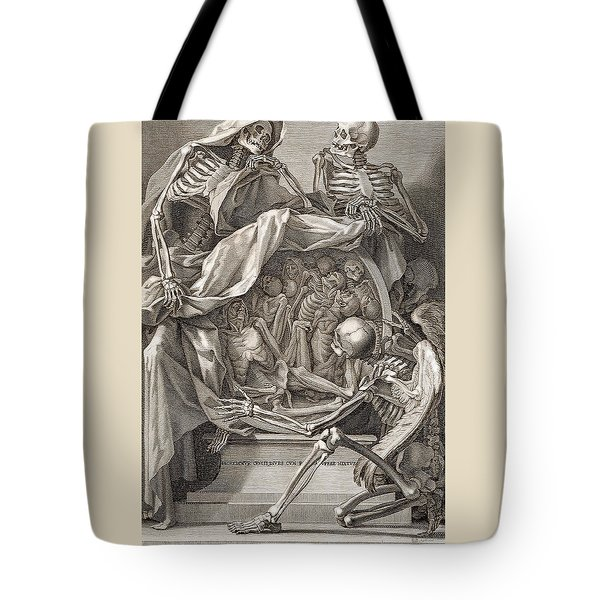 Bernardino Genga - Allegorical Emblems Of Death Tote Bag