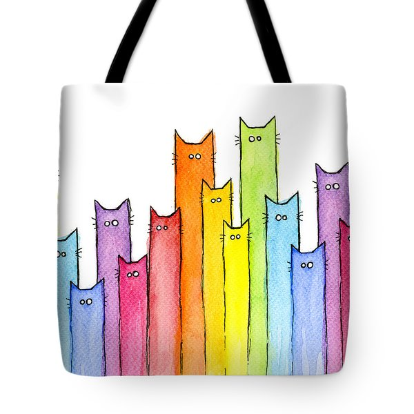 Rainbow Of Cats Tote Bag