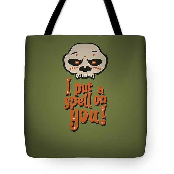 I Put A Spell On You Voodoo Retro Poster Tote Bag