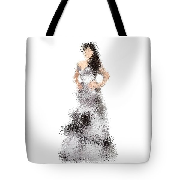 Tote Bag featuring the digital art Collette by Nancy Levan