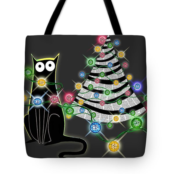 Paper Christmas Tree Tote Bag