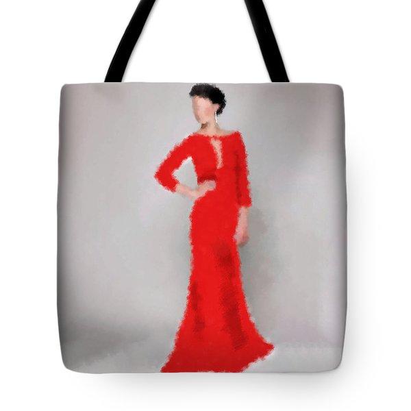 Tote Bag featuring the digital art Vivienne by Nancy Levan