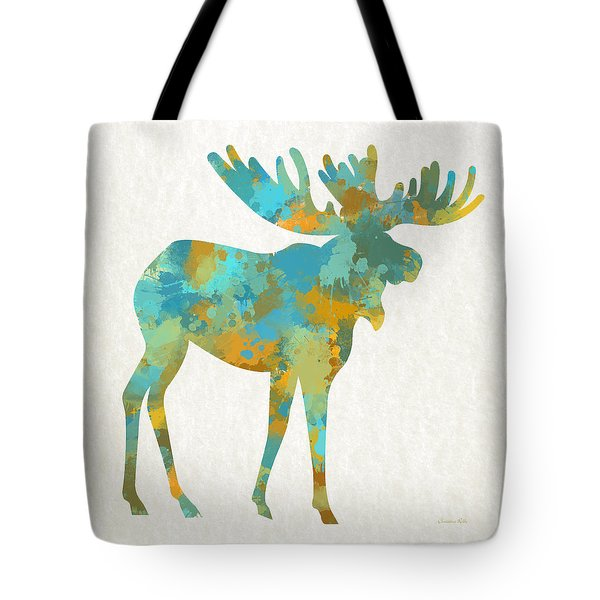 Moose Watercolor Art Tote Bag