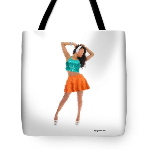 Tote Bag featuring the digital art Gaby by Nancy Levan