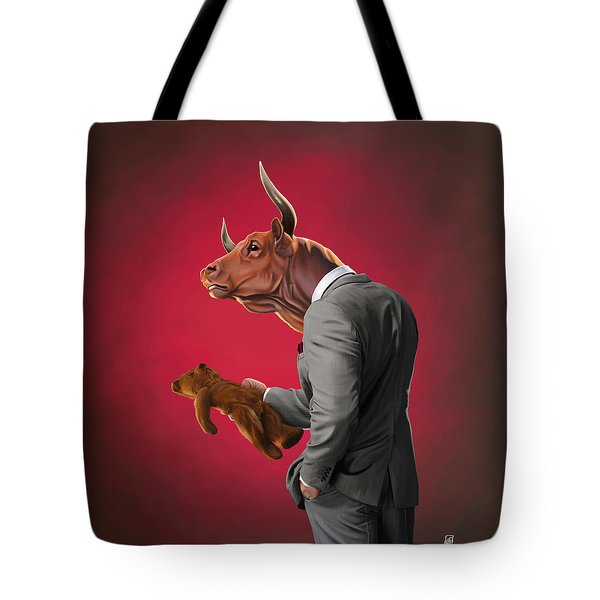 Bull Tote Bag by Rob Snow